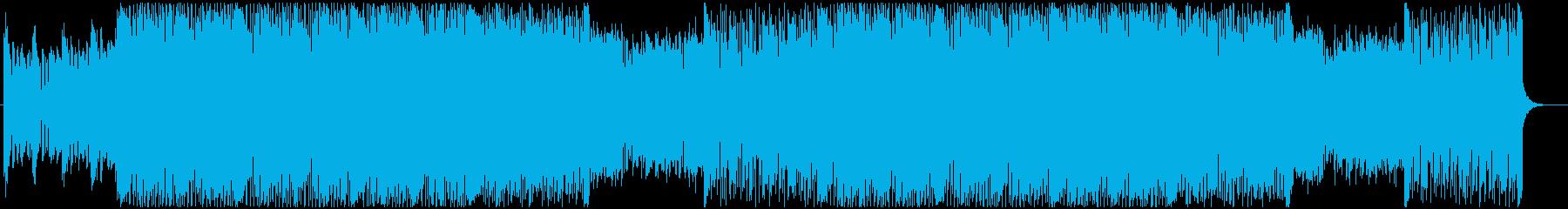 アクションゲーム等BGM(戦闘曲2)の再生済みの波形