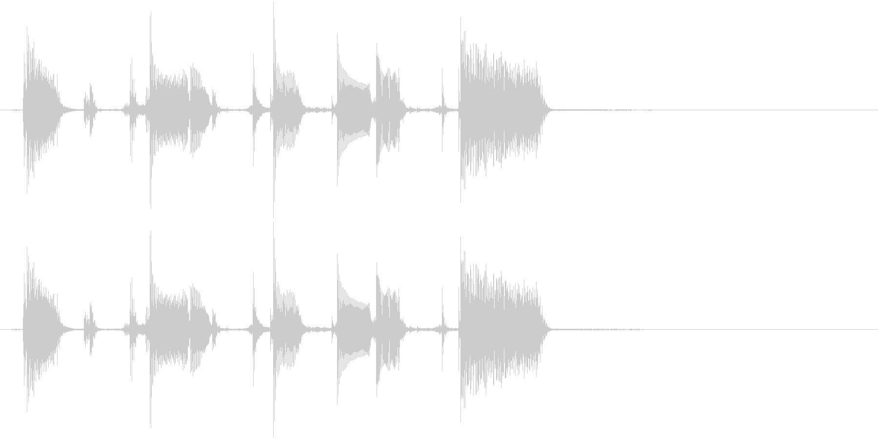 エレキギターのリフの未再生の波形