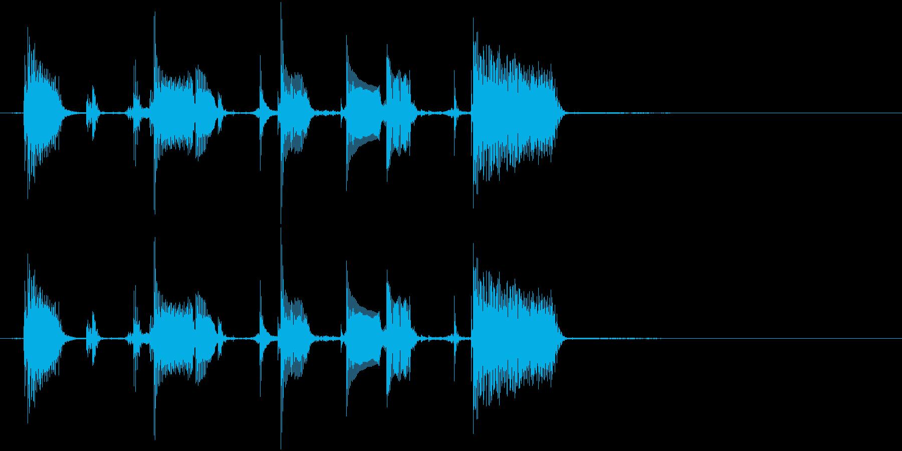 エレキギターのリフの再生済みの波形