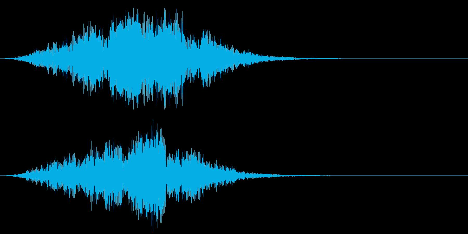 【タイトル】映画のロゴ ヒューンッ・・・の再生済みの波形