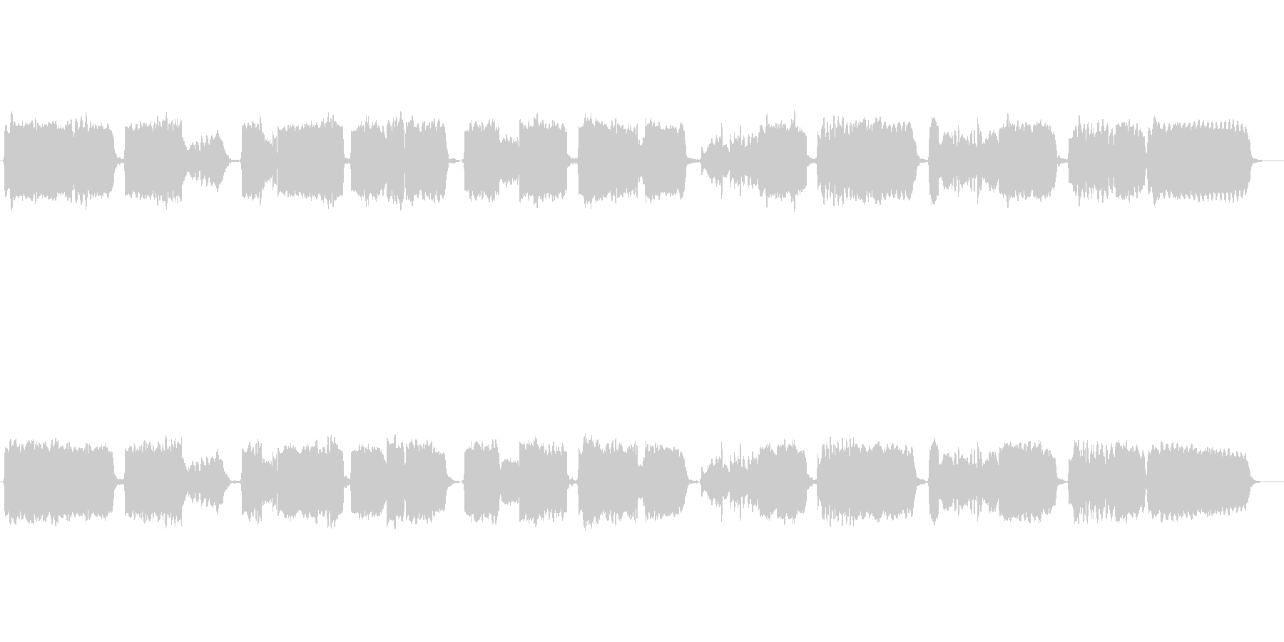 唱歌「ふるさと」の篠笛独奏の未再生の波形