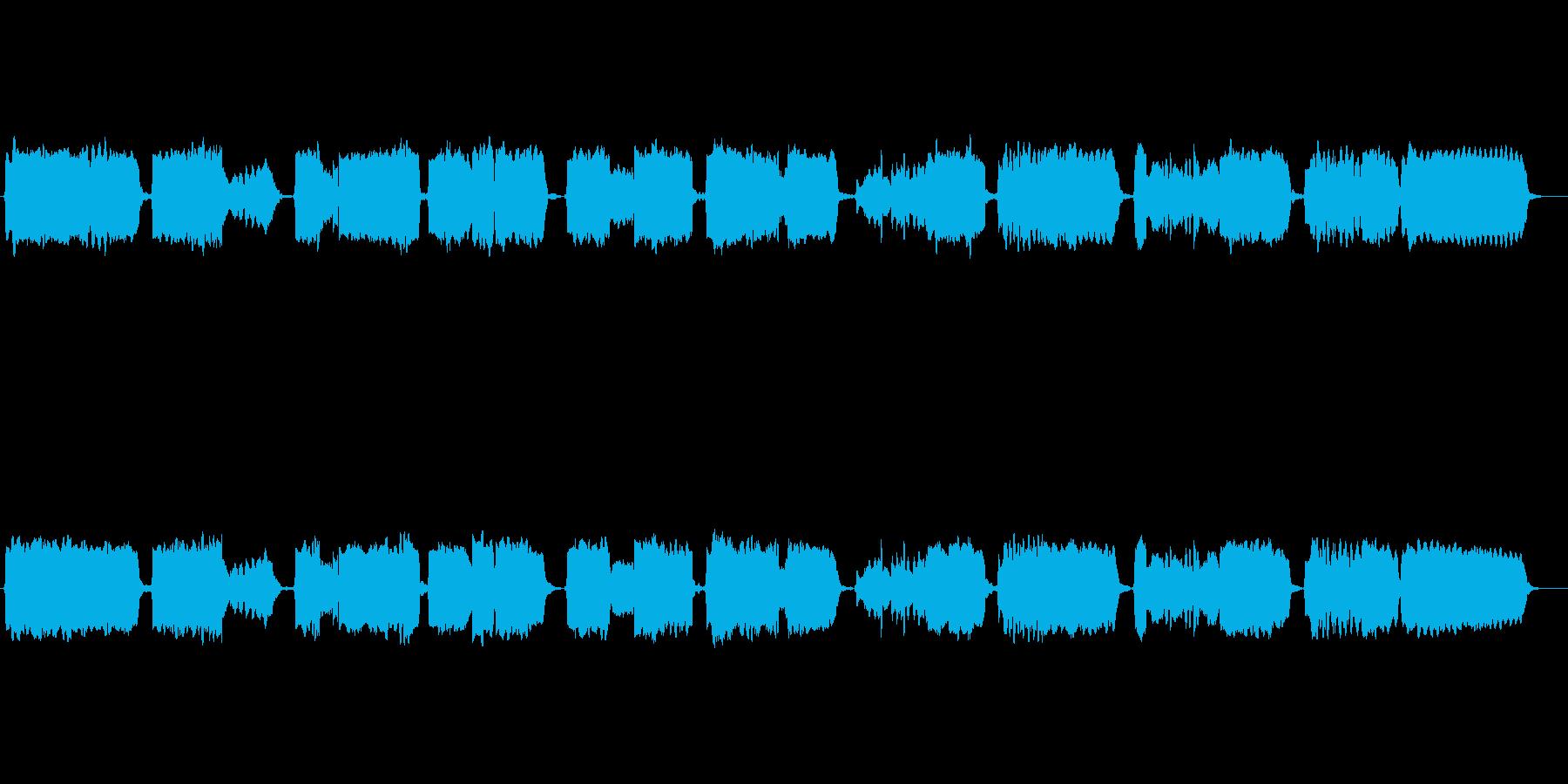 唱歌「ふるさと」の篠笛独奏の再生済みの波形