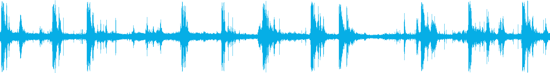 雷のサンプリングの再生済みの波形