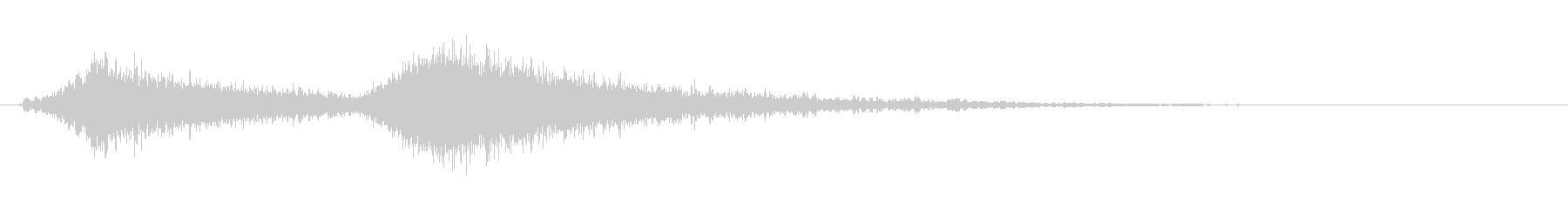 [生録音]電動モーターが短く回る(2回)の未再生の波形