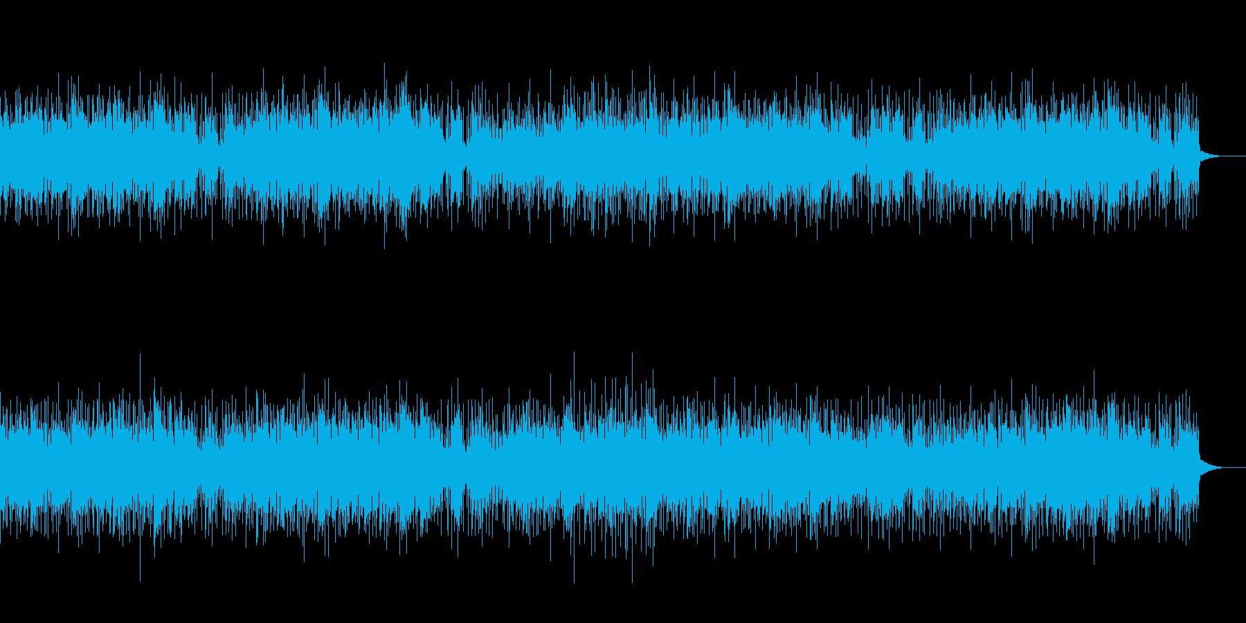 バトルシーンを思わす楽曲の再生済みの波形