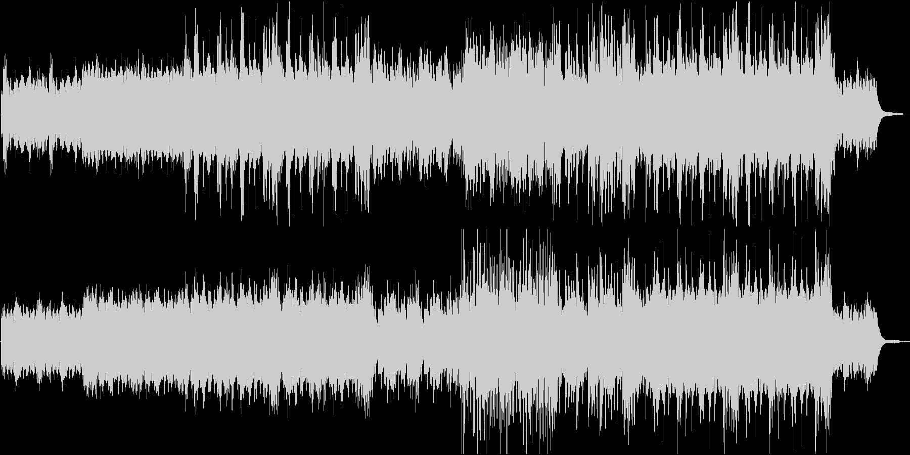 一匹オオカミが旅立つイメージの和曲の未再生の波形