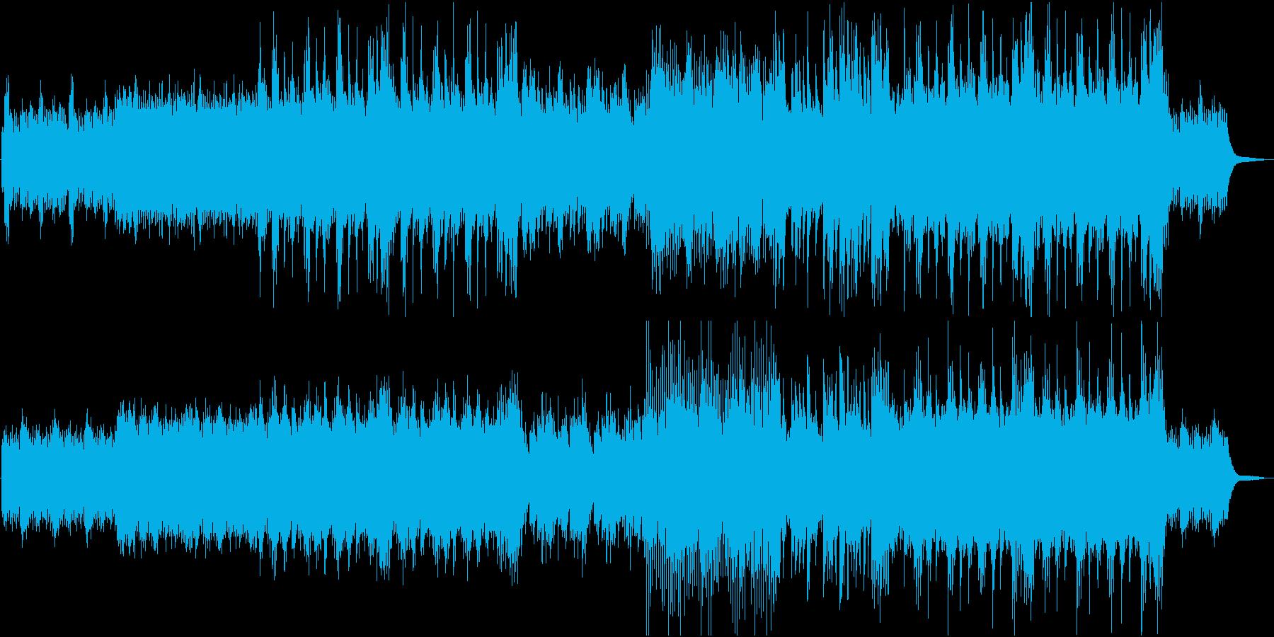 一匹オオカミが旅立つイメージの和曲の再生済みの波形