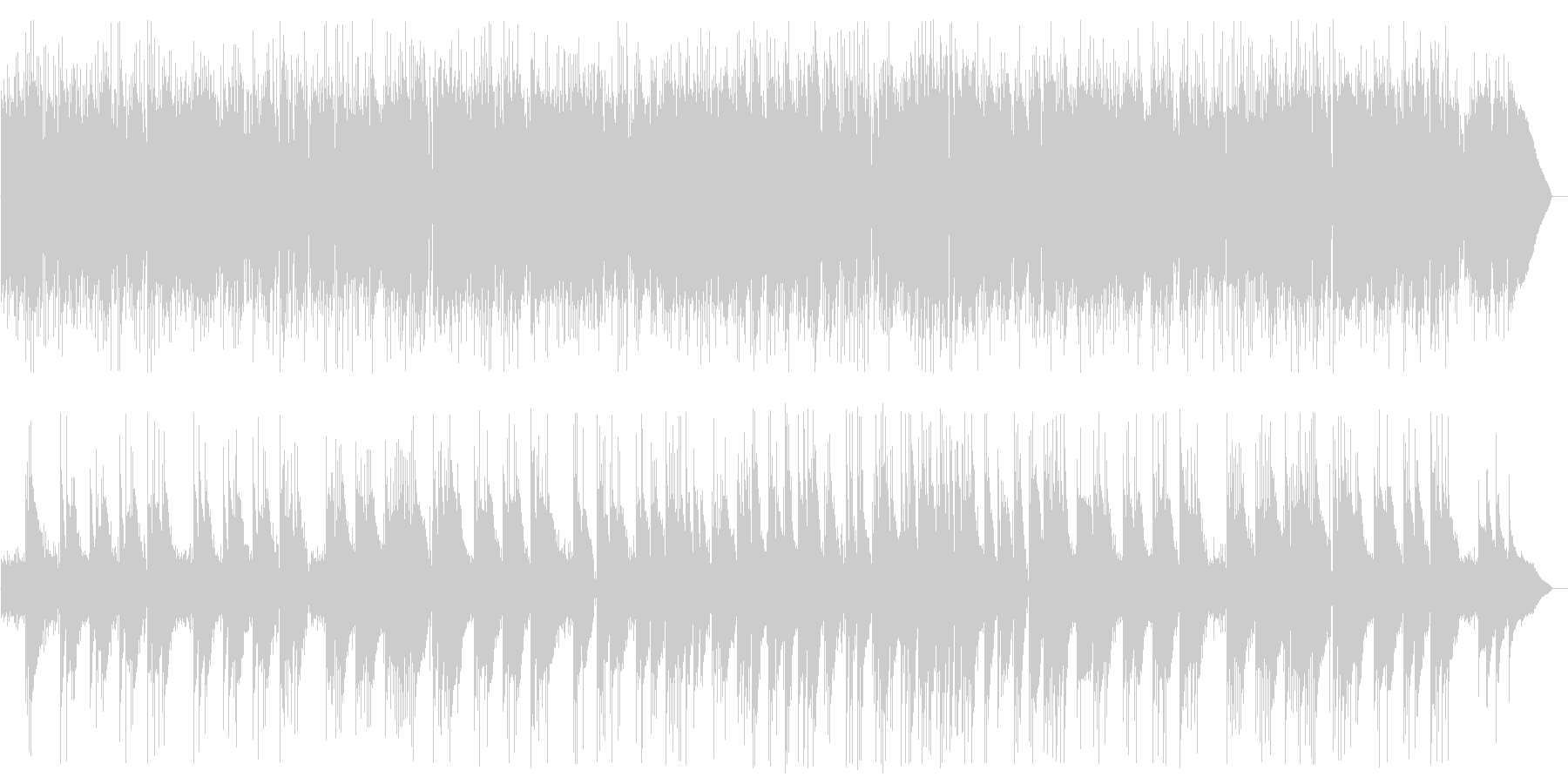 ギターのニューエイジサウンドの未再生の波形