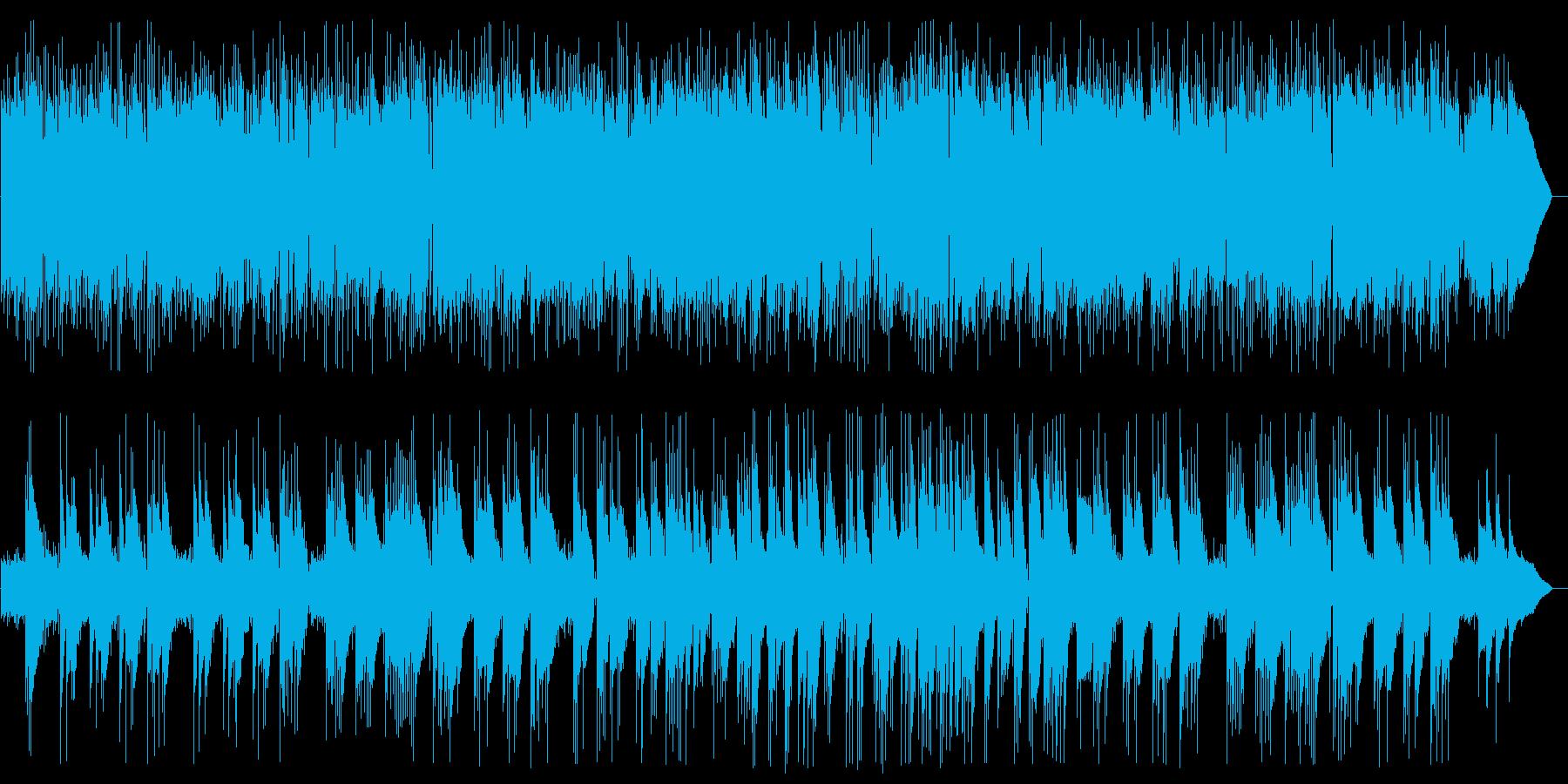 ギターのニューエイジサウンドの再生済みの波形
