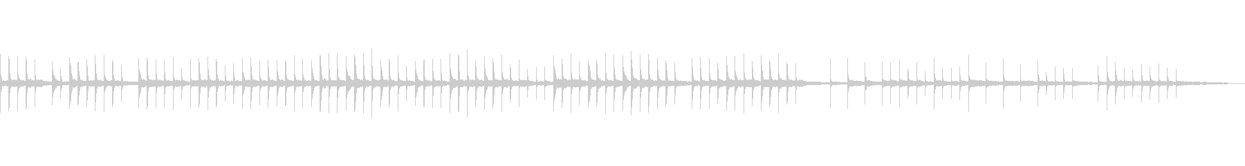 シンセループ、眠り、優しくて切ない曲の未再生の波形