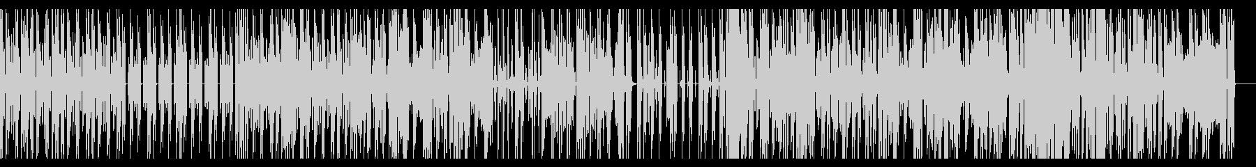 ダークで少しコミカルなエレクトロBGMの未再生の波形