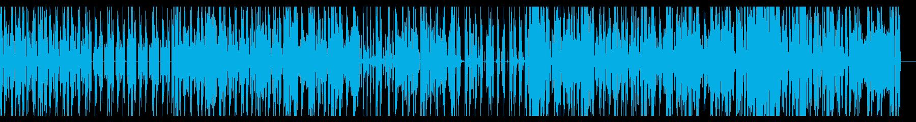 ダークで少しコミカルなエレクトロBGMの再生済みの波形