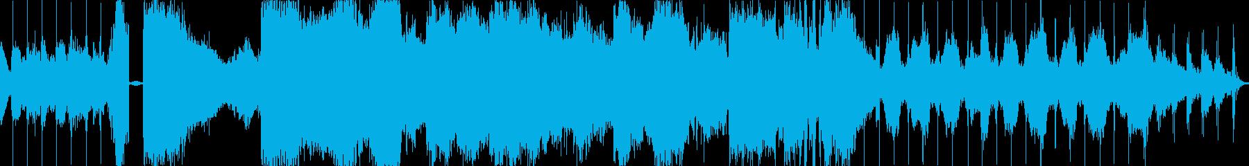 幽霊屋敷-不穏な空気の環境音楽の再生済みの波形