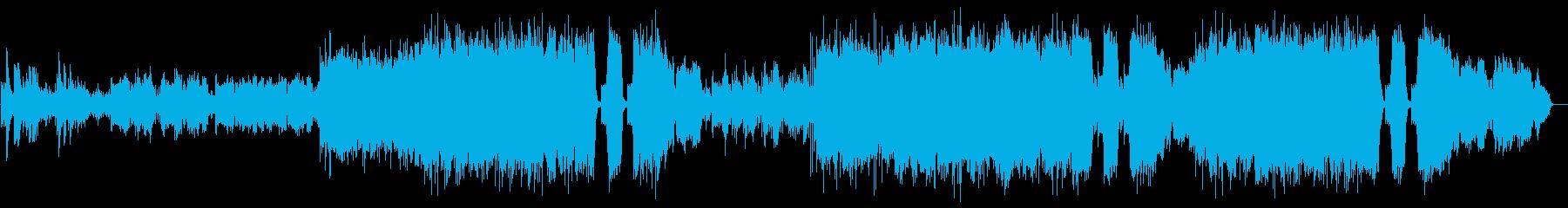 フルートとハープが印象的な旅立ちの歌の再生済みの波形