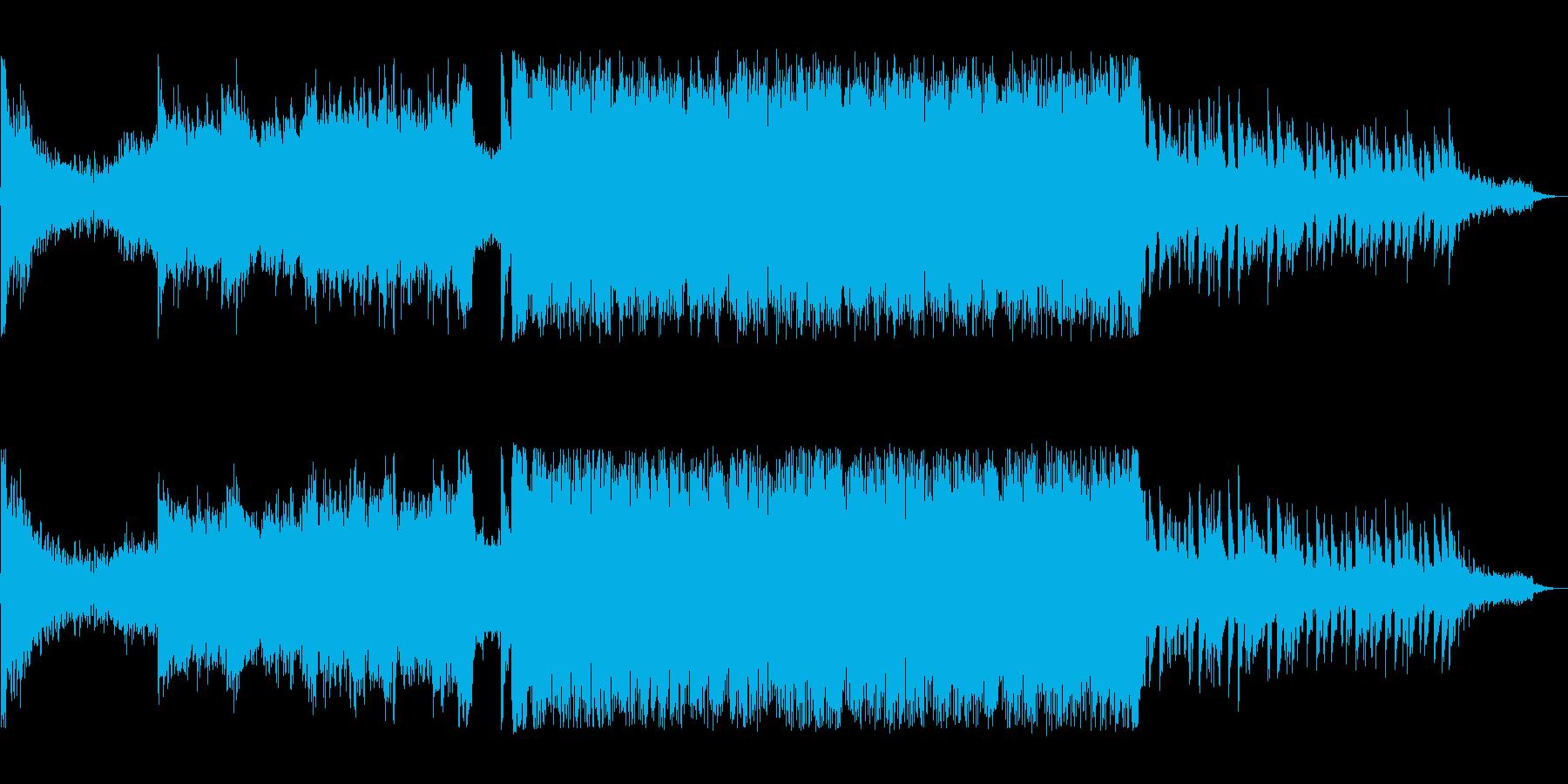 オープニングに合う疾走感のある曲の再生済みの波形