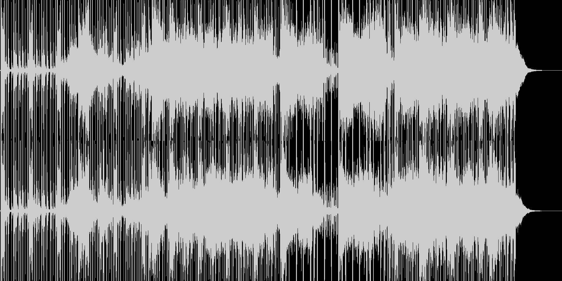 不思議な雰囲気のエレクトロニカの未再生の波形
