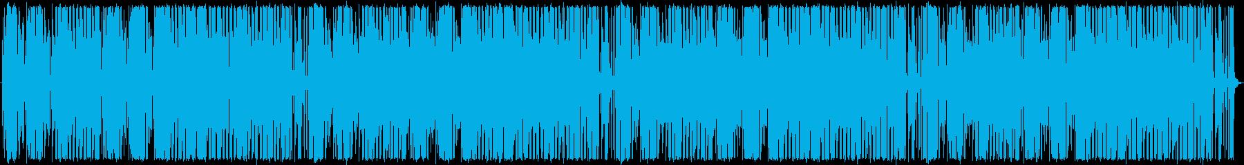 ゆかいで活気にあふれた曲の再生済みの波形