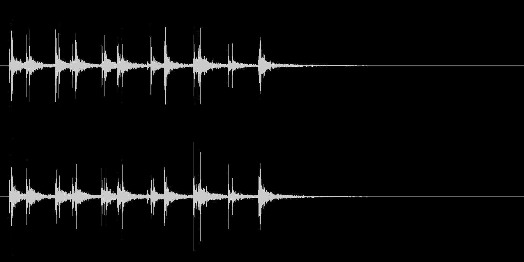 軽快スティック同士を叩くフレーズ音+FXの未再生の波形