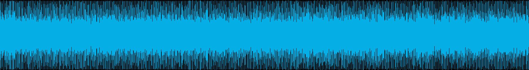 ザァー(FMラジオのノイズD)ループ処理の再生済みの波形