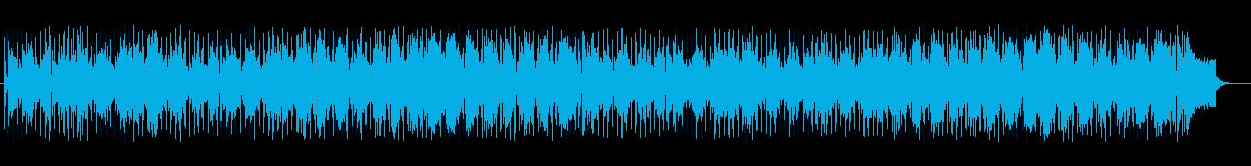 明るく楽しげなシンセサイザーサウンドの再生済みの波形