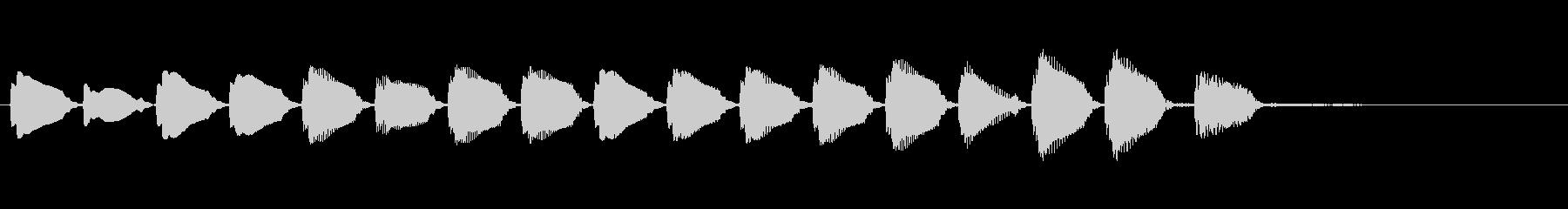 KANT 電子音アイキャッチ207311の未再生の波形