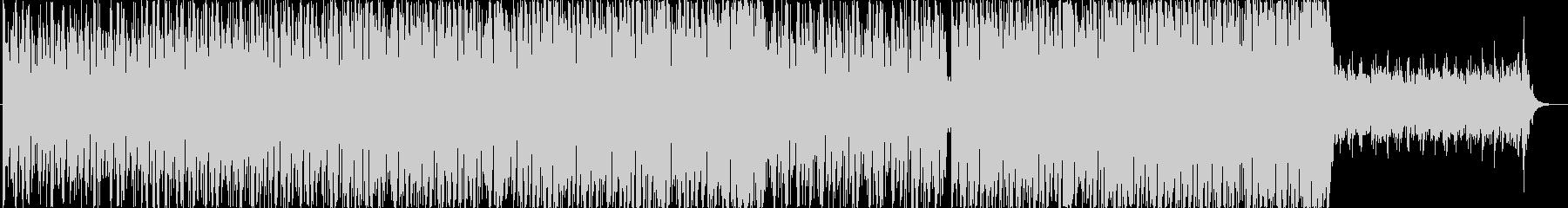 エレクトロニカ風BGMの未再生の波形