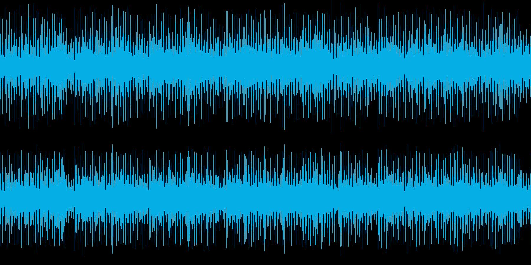 ニュース読みのBGM/四つ打ち/ハウス系の再生済みの波形