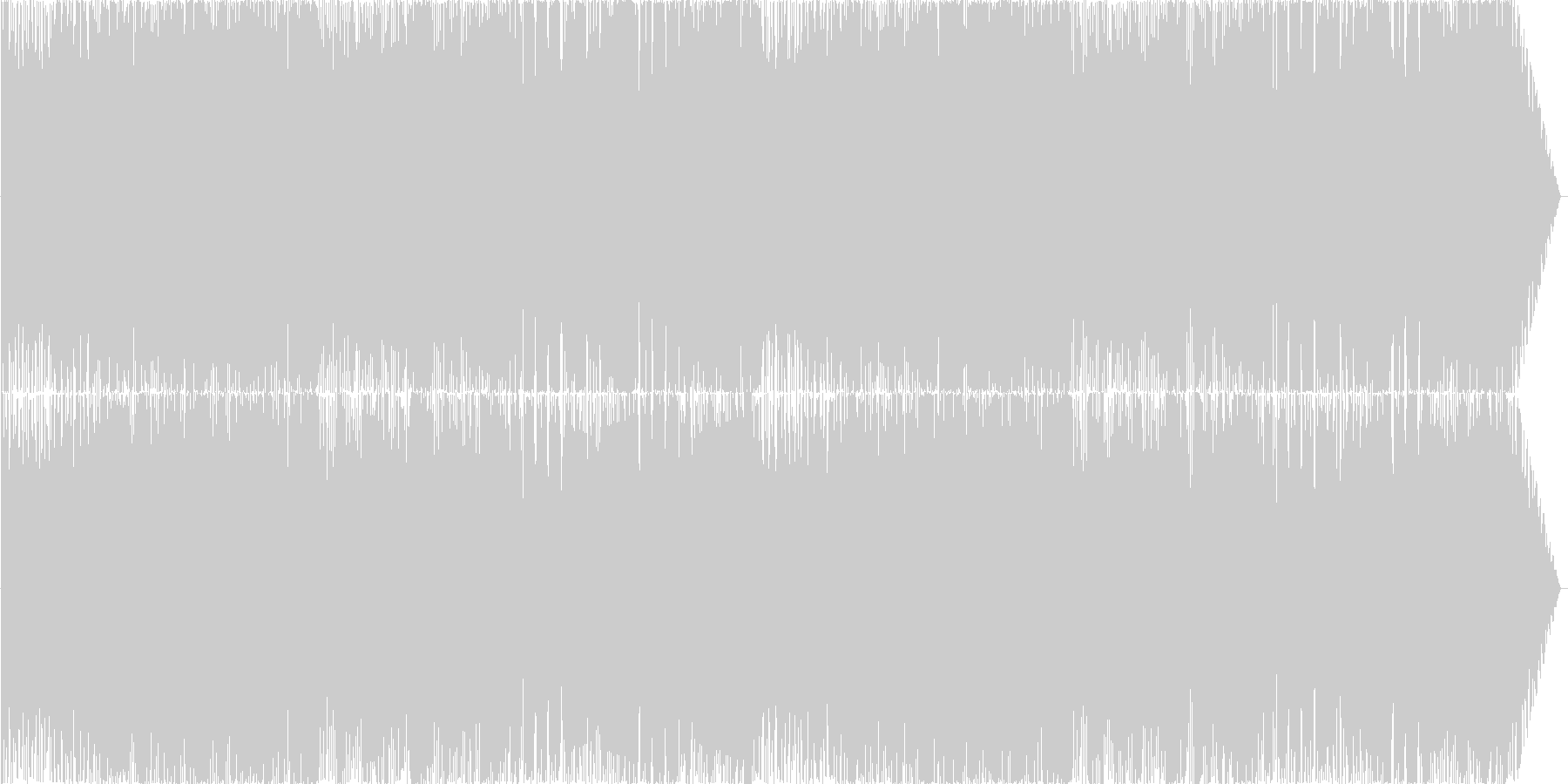 ゴシック調バイオリン主体のロックな戦闘曲の未再生の波形
