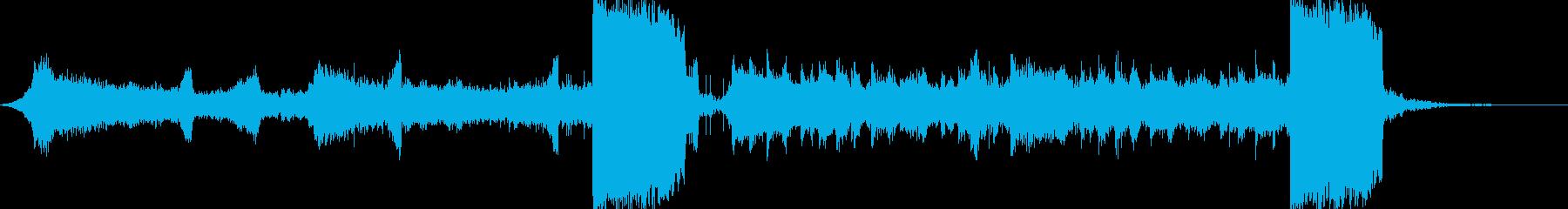 激しい映画、ゲーム、予告用の曲の再生済みの波形