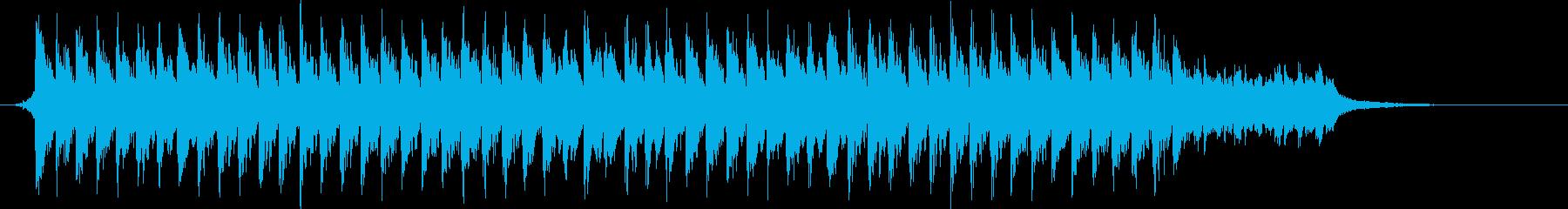 躍動感のある映像に、BGMで更に迫力をの再生済みの波形