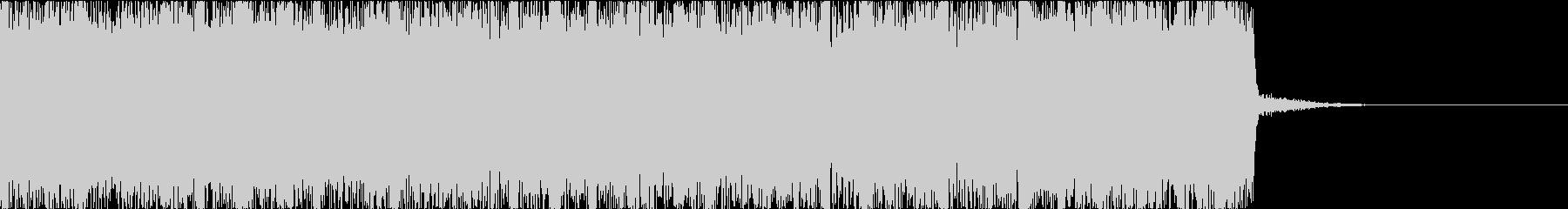 燃えたぎるハードロックメタルのジングルcの未再生の波形