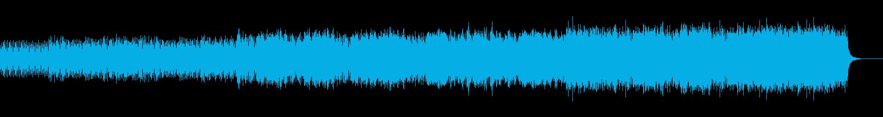 神秘的、幻想的な雰囲気の曲の再生済みの波形