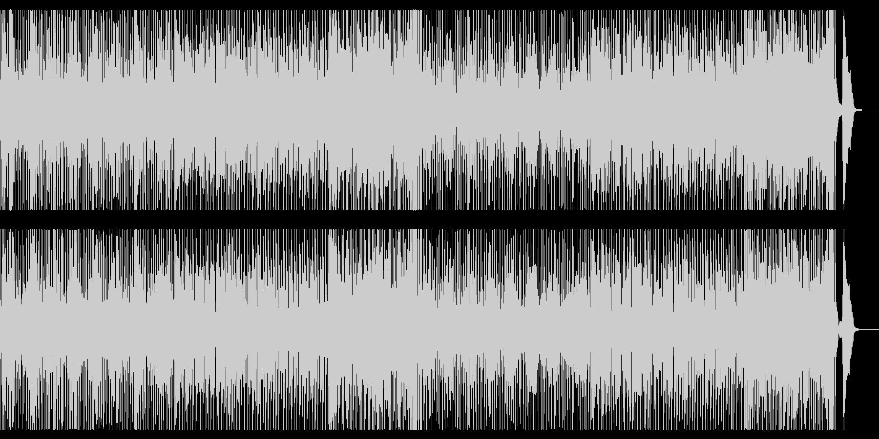 ブラスセクションとドラム中心の元気な曲の未再生の波形