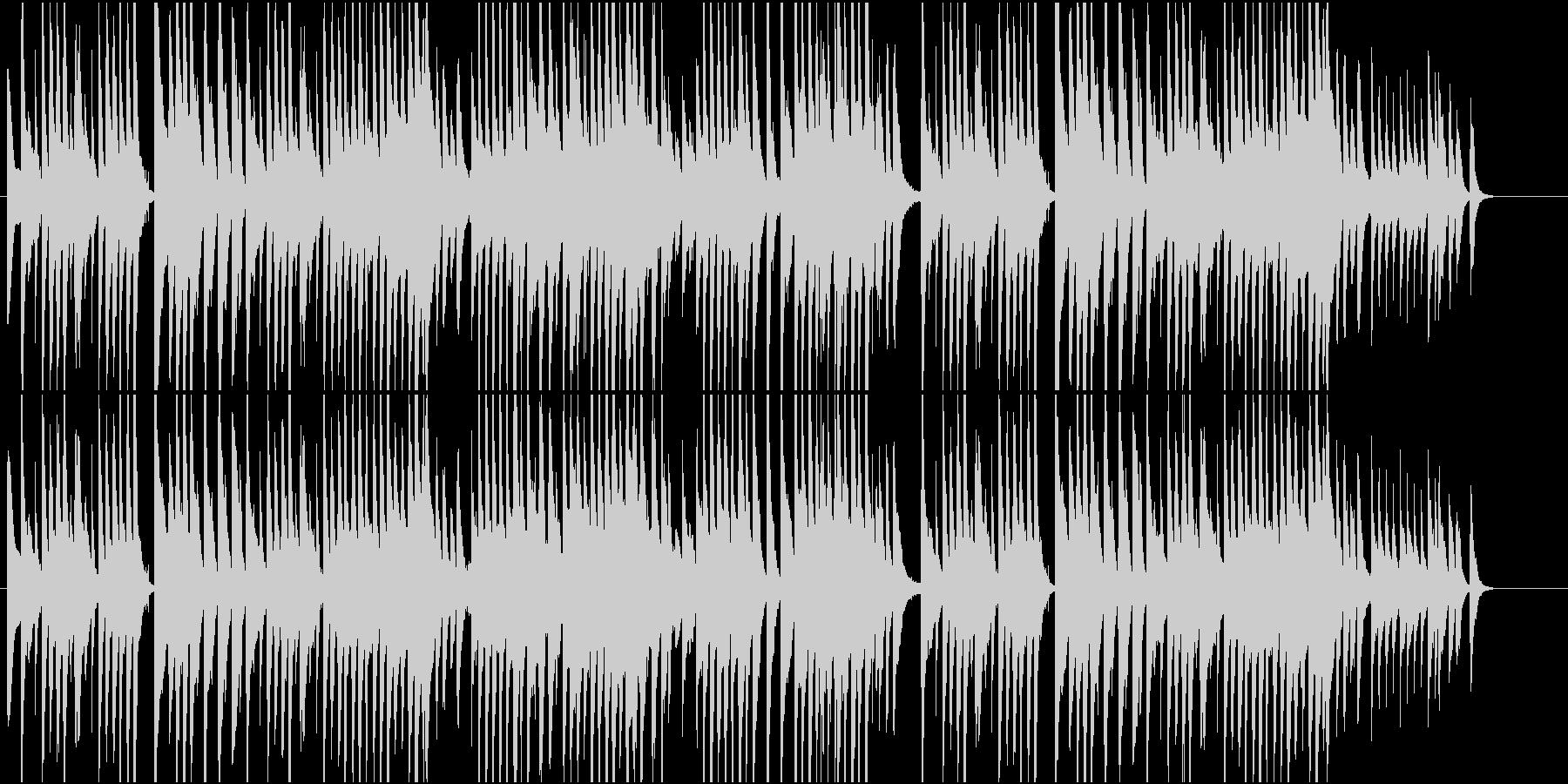 猫が行き来する小道をイメージしたインストの未再生の波形