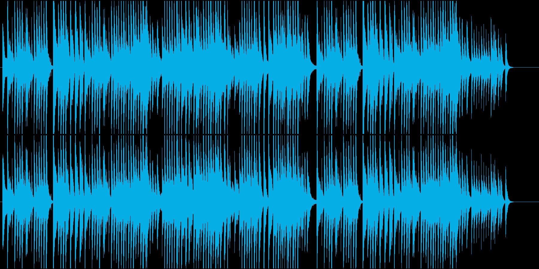 猫が行き来する小道をイメージしたインストの再生済みの波形