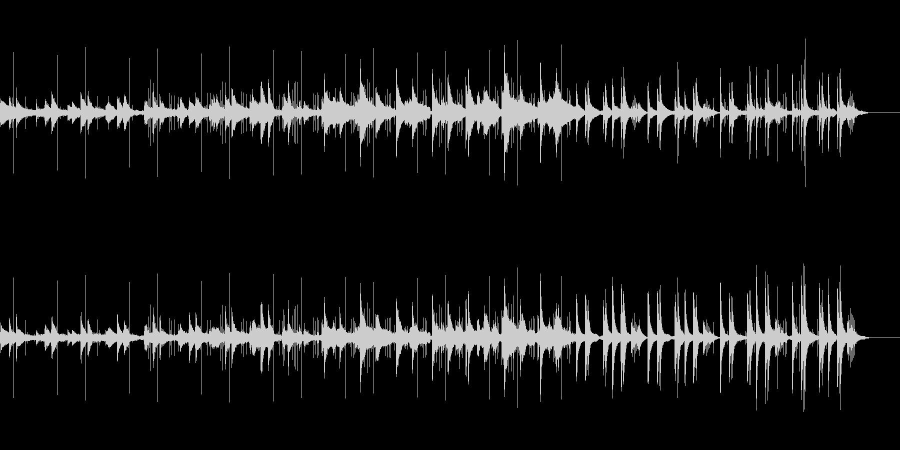 ピアノと鳥の声 ゆったりとしたリズムの未再生の波形