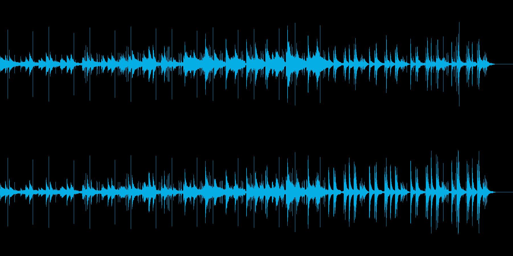 ピアノと鳥の声 ゆったりとしたリズムの再生済みの波形