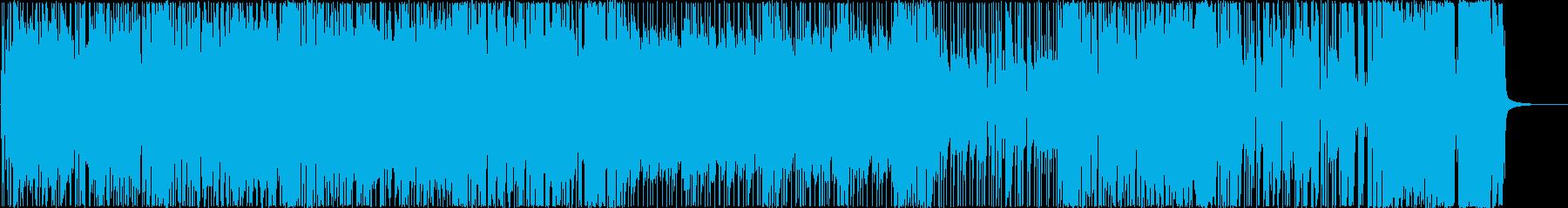 可愛くコミカルな痛快軽快ポップロックの再生済みの波形