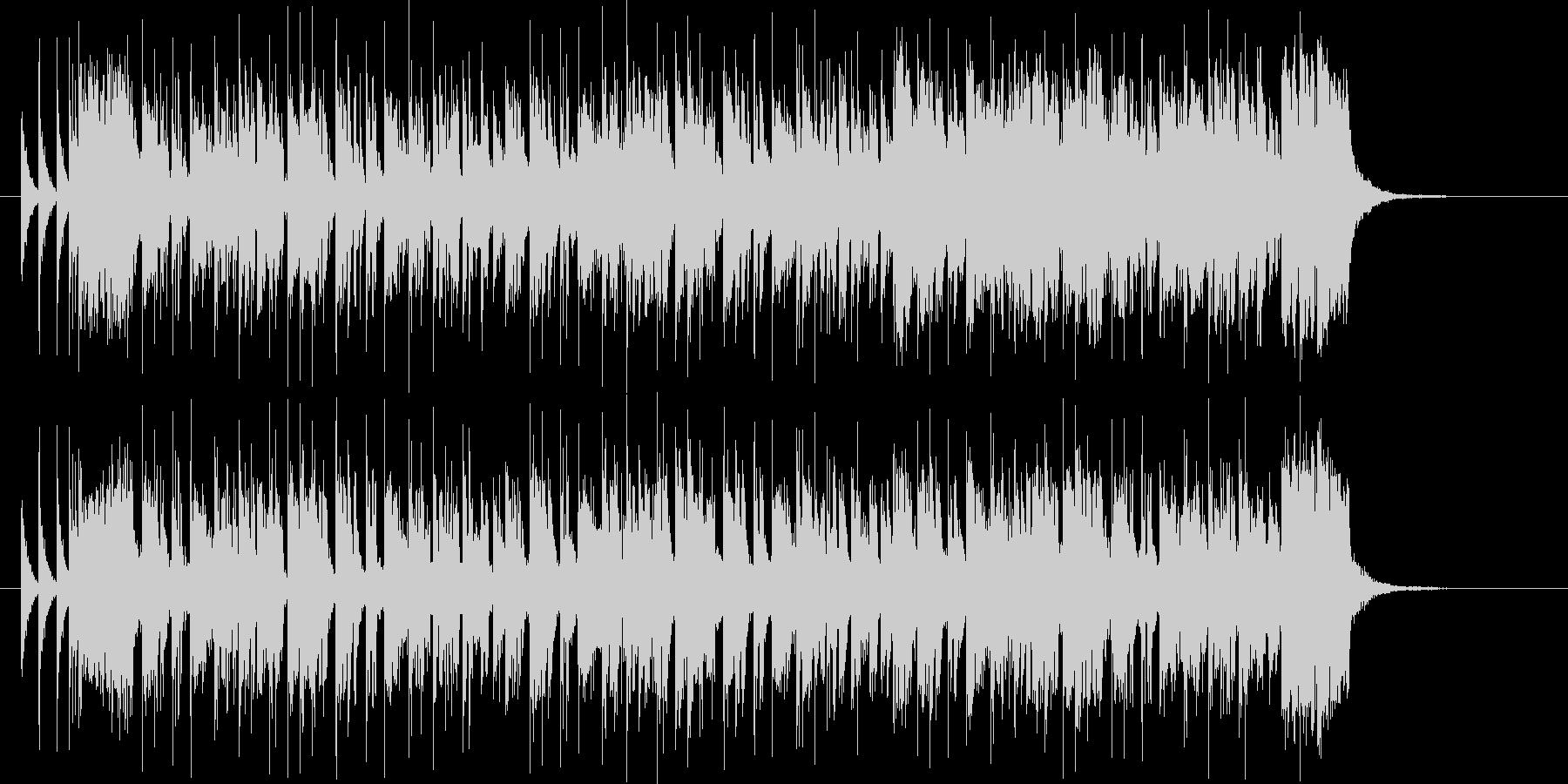 ドラムが軽快なシンセサイザーミュージックの未再生の波形