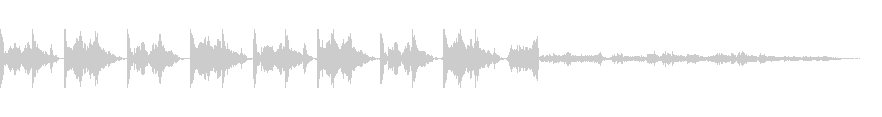 四つ打ちドラムにキラキラ音の未再生の波形