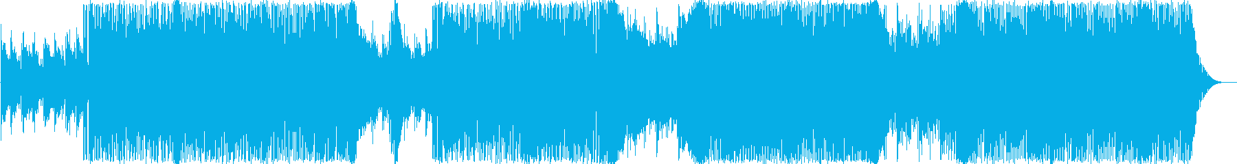 軽快で疾走感があるテクノポップBGMですの再生済みの波形