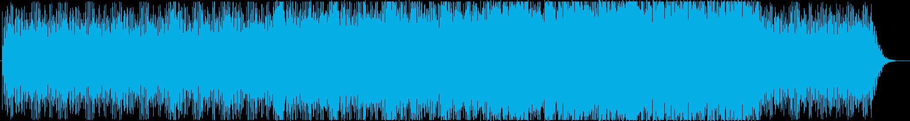 雫から大河への変化をイメージしたBGMの再生済みの波形
