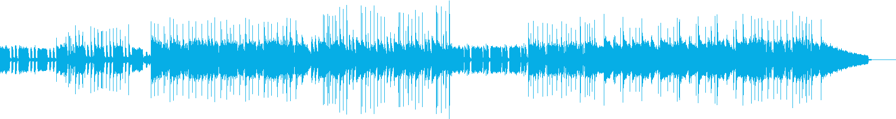 アップテンポ&シリアス調の爽やかBGMの再生済みの波形