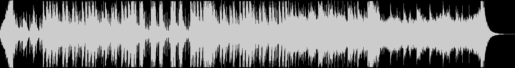 不気味で怪しい3拍子ホラーハロウィン曲の未再生の波形