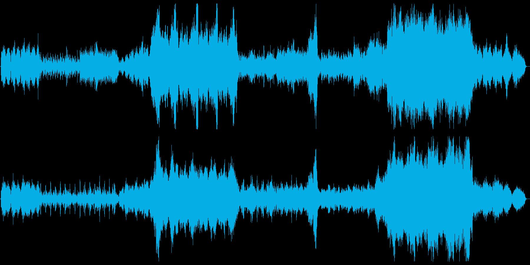 幻想的で壮大な和風曲の再生済みの波形