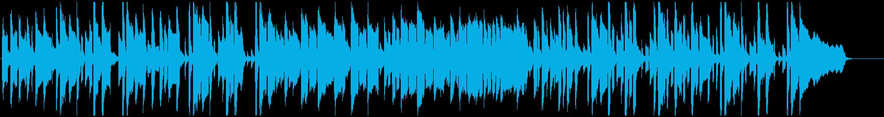 のほほん素朴なリコーダーのシンプルな劇伴の再生済みの波形