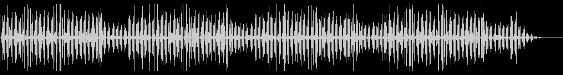 秋の童謡「虫の声」シンプルなピアノソロの未再生の波形