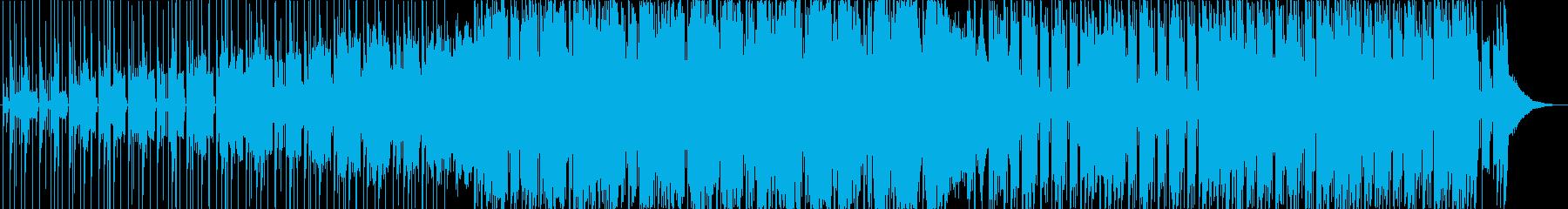 緊張/疾走感のあるシリアスなデジロックの再生済みの波形