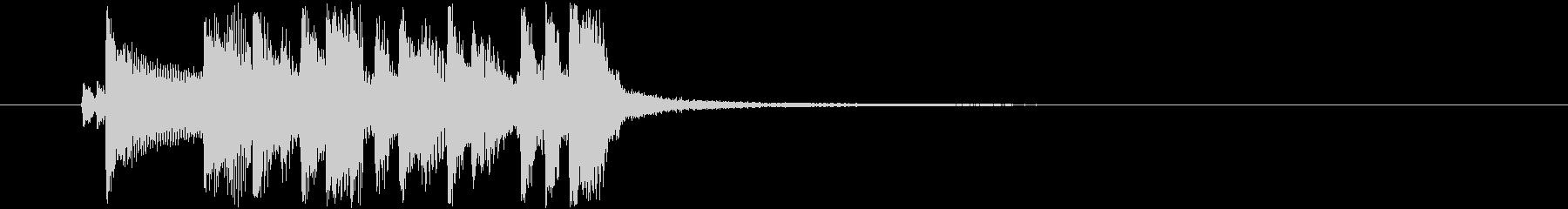 ファンキーなアイキャッチの未再生の波形