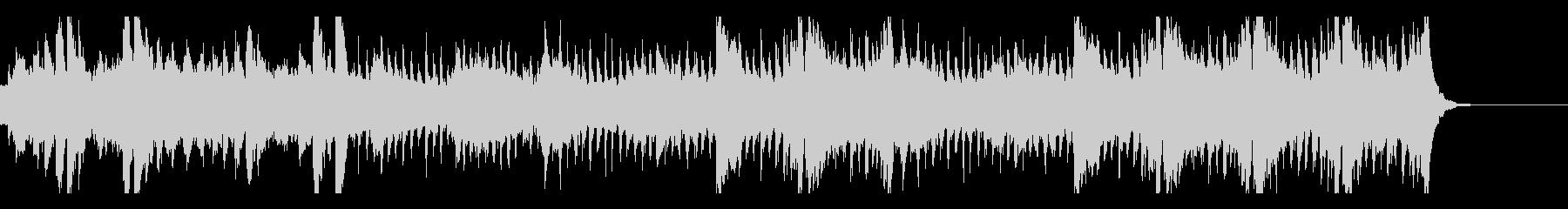 感動的なピアノとストリングスのバラードの未再生の波形